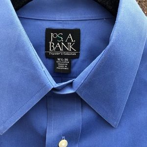 Jos A Bank Travelers Collection Blue Dressup Shirt